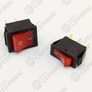 Выключатели клавишный ON-OFF красные с подсветкой